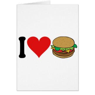 私はハンバーガーを愛します* カード