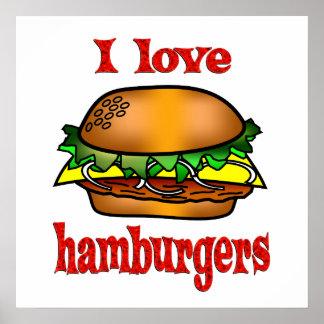 私はハンバーガーを愛します ポスター
