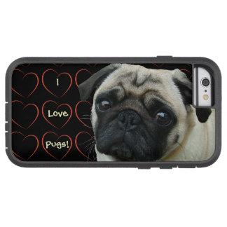 私はハートが付いているパグを愛します TOUGH XTREME iPhone 6 ケース