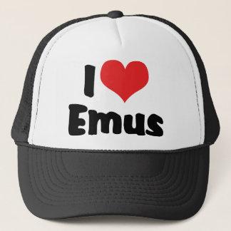 私はハートのエミューを-エミュー及びだちょうの恋人愛します キャップ
