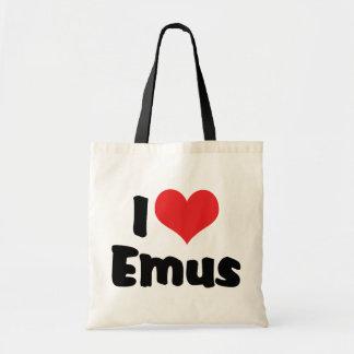 私はハートのエミューを-エミュー及びだちょうの恋人愛します トートバッグ