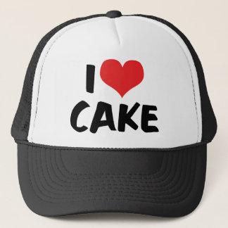 私はハートのケーキ-ケーキのクッキードーナツ恋人--を愛します キャップ
