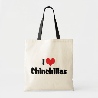 私はハートのチンチラを愛します トートバッグ