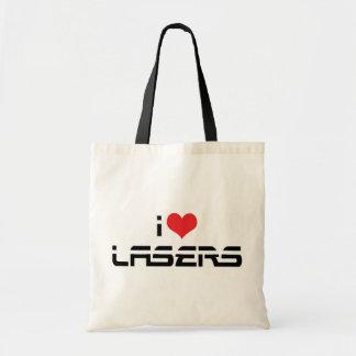 私はハートのレーザーを-科学及び技術の恋人愛します トートバッグ
