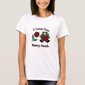 私はハートの多くのテディによってが上がったBeary愛します Tシャツ