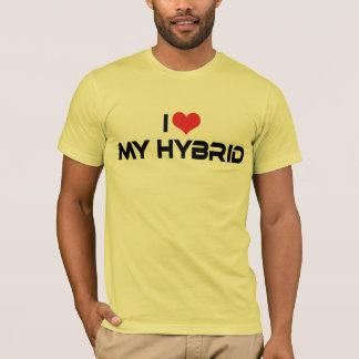 私はハートを私の雑種-電気自動車の恋人愛します Tシャツ