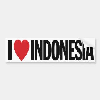 """私はハートインドネシアを11"""" 28cmのビニールのデカール愛します バンパーステッカー"""