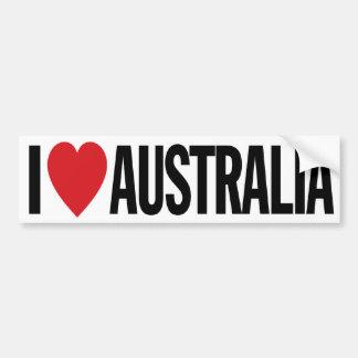 """私はハートオーストラリアを11"""" 28cmのビニールのデカール愛します バンパーステッカー"""