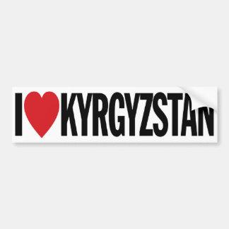 """私はハートキルギスタンを11"""" 28cmのビニールのデカール愛します バンパーステッカー"""