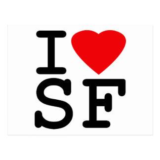 私はハートサンフランシスコを愛します ポストカード