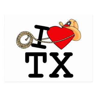 私はハートテキサス州を愛します ポストカード