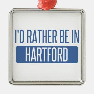 私はハートフォードにむしろいます メタルオーナメント