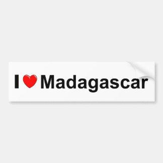 私はハートマダガスカルを愛します バンパーステッカー