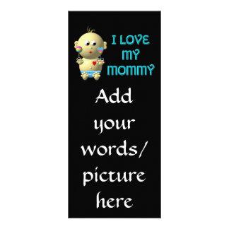 私はハート及びラッセル音のベビーを跳ねている私のお母さんを愛します ラックカード