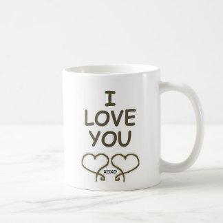 私はハート愛します コーヒーマグカップ