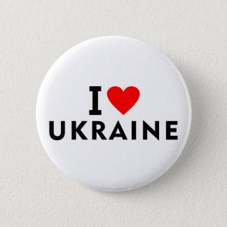私はハート旅行観光事業のようなウクライナの国を愛します 缶バッジ