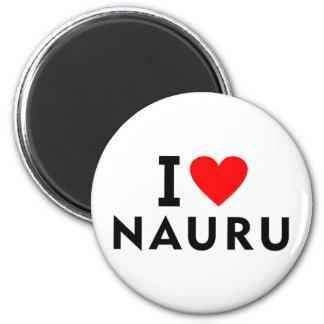 私はハート旅行観光事業のようなナウルの国を愛します マグネット