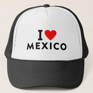 私はハート旅行観光事業のようなメキシコの国を愛します キャップ