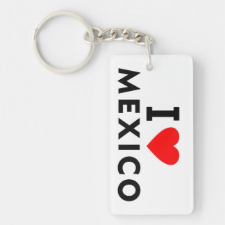 私はハート旅行観光事業のようなメキシコの国を愛します キーホルダー