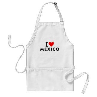 私はハート旅行観光事業のようなメキシコの国を愛します スタンダードエプロン