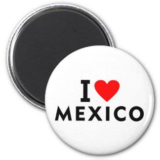 私はハート旅行観光事業のようなメキシコの国を愛します マグネット