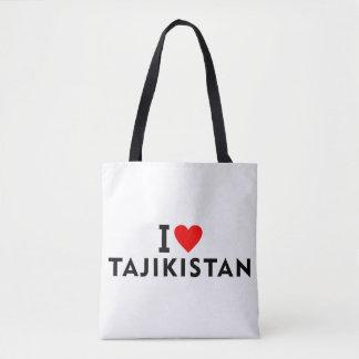 私はハート旅行tourisのようなタジキスタンの国を愛します トートバッグ