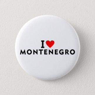 私はハート旅行tourisのようなモンテネグロの国を愛します 缶バッジ