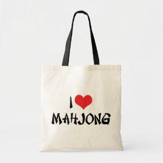 私はハートMahjong - Mah Jongの恋人--を愛します トートバッグ
