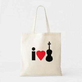 私はバイオリンのトートバックを愛します トートバッグ