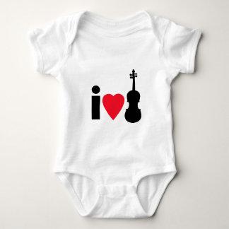 私はバイオリンを愛します ベビーボディスーツ