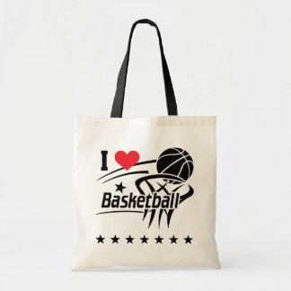 私はバスケットボールのトートバックを愛します トートバッグ