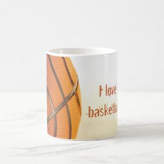 私はバスケットボールのマグを愛します コーヒーマグカップ