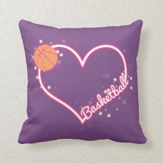 私はバスケットボールの枕ギフトを愛します クッション