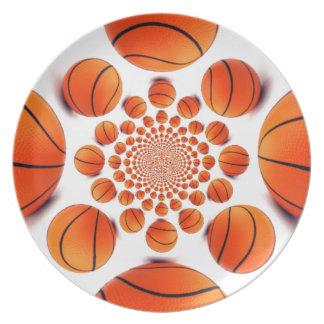 私はバスケットボールを愛します パーティー皿