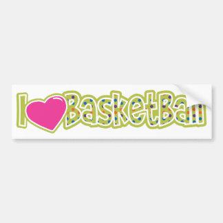 私はバスケットボールを愛します バンパーステッカー