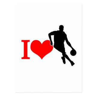 私はバスケットボールを愛します ポストカード