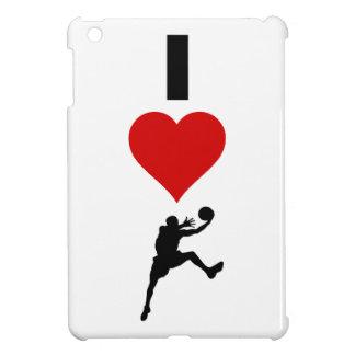 私はバスケットボールを愛します(縦) iPad MINIケース