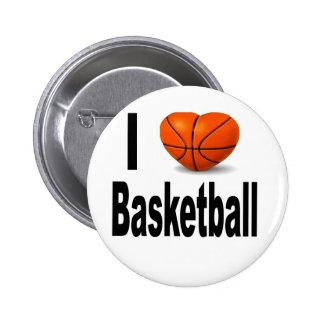 私はバスケットボールを愛します 5.7CM 丸型バッジ
