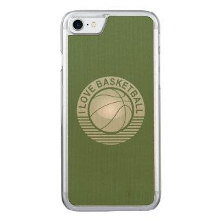 私はバスケットボールを愛します CARVED iPhone 8/7 ケース