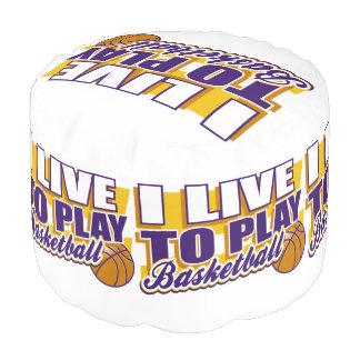 私はバスケットボールを遊ぶために住んでいます プーフ