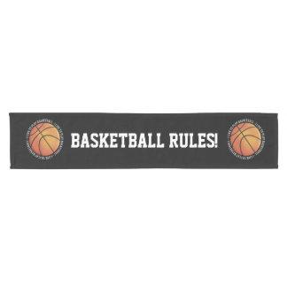 私はバスケットボール|の涼しいスポーツのギフトを遊ぶために住んでいます ショートテーブルランナー