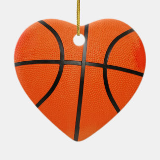 私はバスケットボール-オーナメント--を愛します セラミックオーナメント