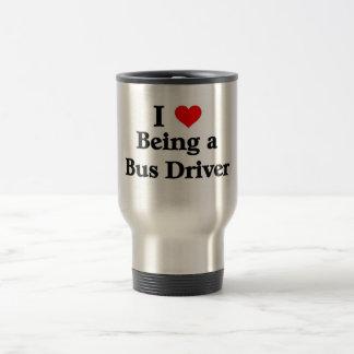 私はバス運転手であることを愛します トラベルマグ