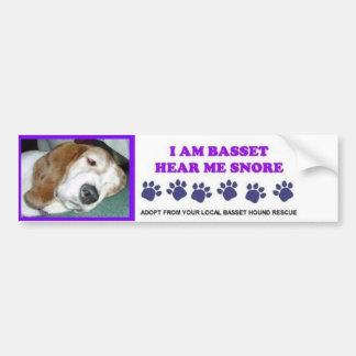 私はバセット犬いびきをかくのを聞きます私がです バンパーステッカー
