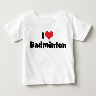 私はバドミントンを愛します ベビーTシャツ
