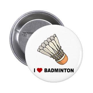 私はバドミントンを愛します 5.7CM 丸型バッジ