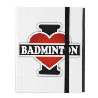 私はバドミントンを愛します iPad ケース