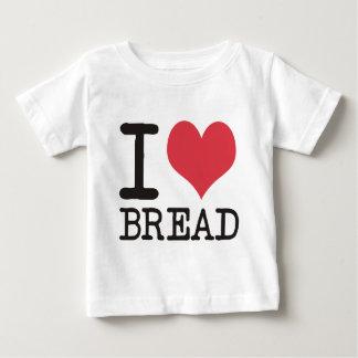 私はバナナ-りんご-をパンのプロダクト及びデザイン愛します ベビーTシャツ