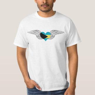 私はバハマ-翼--を愛します Tシャツ