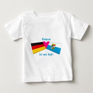 私はババリア/Bayern ist mirのlieb愛します ベビーTシャツ